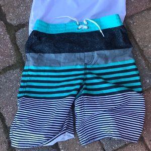 Boys swim suit and rash guard shirt